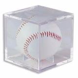 Portapelota Beisbol Cubo Protección De Acrílico Bcw