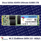 Ssd M.2 22x80mm Adata Ultimate Su800 1tb Sata 3.0 - 6gb/s