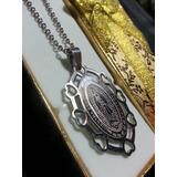 Dije Virgen De Guadalupe +cadena +caja Aceroquirurgico 316l
