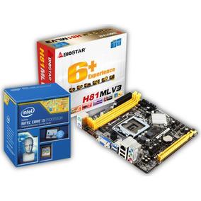Combo Tarjeta Madre Biostar H81mlv3 + Intel Core I3 4160
