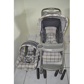 Carrinho De Bebê Importado Com Bebê Conforto Eddie Bauer