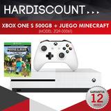 Consola Xbox One S 500gb 4k Joystick + Juego Minecraft