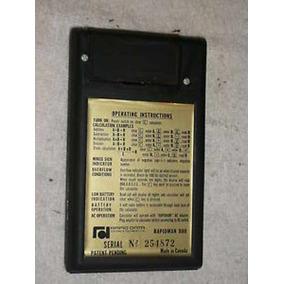 Calculadora De Coleção Rapidman 800 Canadá Ano 1972 Vintage