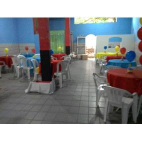 Aluguel Espaco De Festa Com Brinquedos E Decoracao Simples