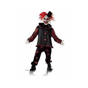 Disfraz Niño Payaso Malvado Terror Halloween Dia Brujas