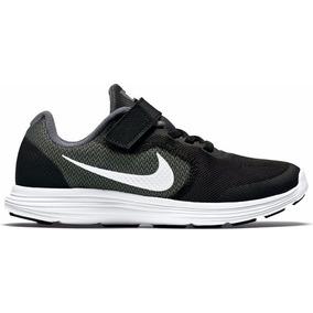Tenis Nike Revolution 3 Negro Preescolar 16.5-22 Originales