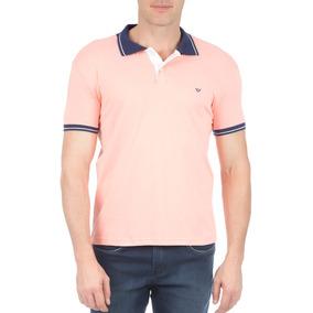 Camisa Polo Masculina Laranja Com Detalhe Colombo