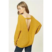 Sweater Pullover Escote En V En La Espalda Forever 21 2017