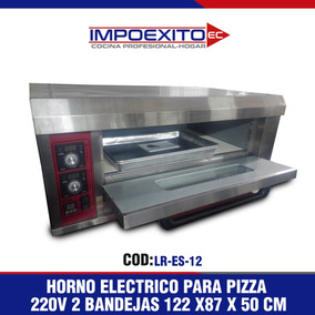 Horno Para Pizza Eléctrico 220v 2 Bandejas Impoexito