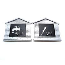Kit Visor Agua + Luz Aluminio Fundido Modelo Colonial Prata