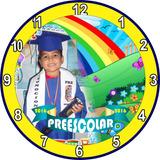 Reloj De Pared Graduacion Preescolar Sexto Bachiller Logos P