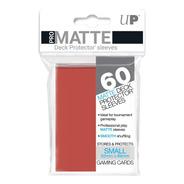 Ultra Pro Matte Sleeves 60 Mini Cor Vermelho Yugioh- 62x89mm