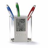 Porta Lapiz Multifunción Reloj