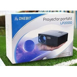 Proyector Lp 2000 Lumens Portatil Led Hd Hdmi Vga Usb