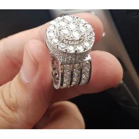 Anillo Plata Ley 925, Iced Lab Diamante Talla 11 Hombre