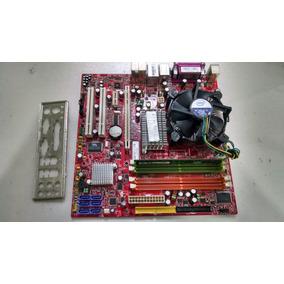 Placa Mae Lga 775 Com Processador Core 2 Duo 1gb Ddr2