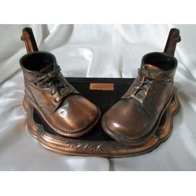 Antiguos Zapatos De Metal Portaretratos 1