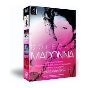 Madonna - Box Coleção 4 Dvds De Filmes (original E Lacrado)