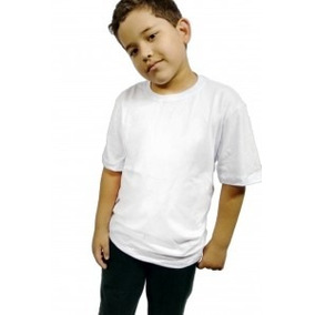 Kit Com 10 Camisetas Lisas Infantil - 100% Algodão