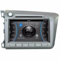 Multimídia Caska Honda Civic 2012 P/ Frente Gps Bluetooth