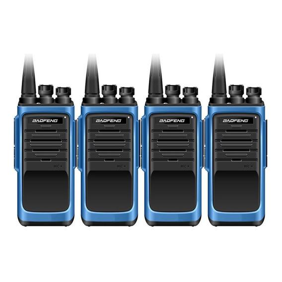 Kit X 4 Handy Baofeng Bf888s Max Radio Walkie Talkie Uhf Con Auricular