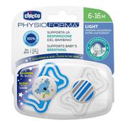 Chupete Ultra Liviano Physio Light De 6 A 16 Meses Pack X 2