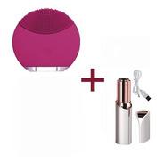 Cepillo Limpiador Facial Poros + Depilador Recargables Usb