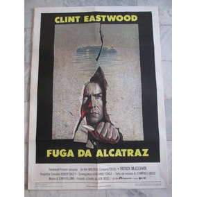 Fuga Da Alcatraz Clint Eastwood 140x100cm Cartaz Cinema