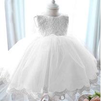 Vestido Infantil Renda Aniversario 1 Ano Casamento Batizado