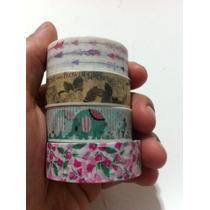 Washi Tape Estampas Divertidas- Durex Colorido Fita Decotape