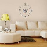 Reloj Decorativo De Pared,3d De Espejo De Pegatina, Adhexivo