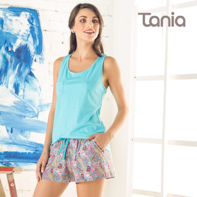 Pijama Con Short Tania Ref. Tshj254 Estampado Paisleys Mujer