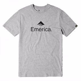 Remera Emerica Skateboard Logo Tee / Gris Estampa
