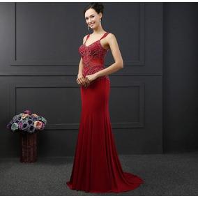 Vestido Elegante Mujer Dama Graduación Noche Gala Mama Novia