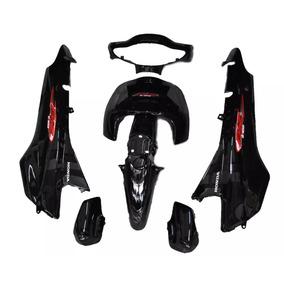 Kit Plásticos Carenagem Honda Biz 100 Preta De 2005 C/adesiv