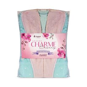 Roupão De Microfibra Charme Cherry Infantil - Appel
