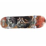 Skate Longboard 7 Capas En Pino Tabla 4 Ruedas Sport Runner