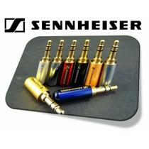 Plug P2 3vias Estéreo 2unidades Senheiser/fone De Ouvido