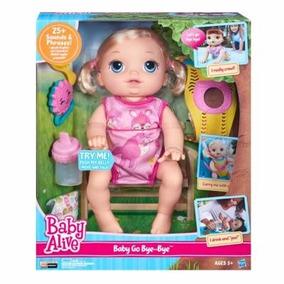 Boneca Baby Alive Vamos Passear Loira Hasbro Fala Engatinha