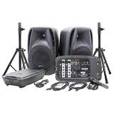 Gemini Es-210mxblu Bluetooth Pa Sistema Portátil Con Mezc...