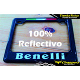 Porta Placa Para Motos Benelli Reflectivo Rk6 Tnt Trek Etc