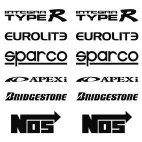 Stickers Vinil Auto Tuning 12 Logos Racing Calcomanias #1