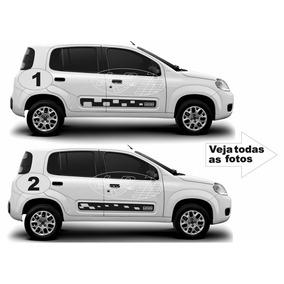 Acessório Kit Adesivo Fiat Novo Uno Vivace Adesivos Faixas