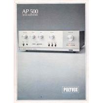 Quadro 20x30 Amplificador Polyvox Ap-500 C/ Vidro E Moldura