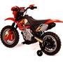 Moto Elétrica Infantil Motocross Vermelha Homeplay (61284)