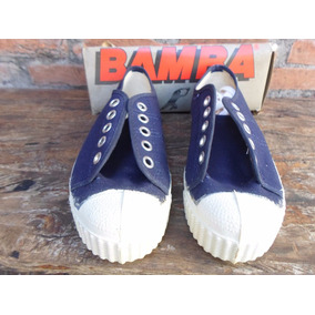 Tenis Bamba Monobloco Anos 80 +caixa Original Azul Novo