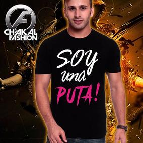 Ck013 Playera Con Estampado Soy Una Puta
