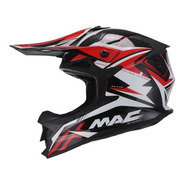 Casco Moto Cross Mx Mac Virtus Sharp Negro Rojo Devotobikes