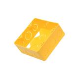 Caixa De Embutir 4x4 Pvc Amarela 10 Peças Amanco