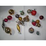 Antiguo Lote Navideño Campana Navidad Pera Frutilla Esfera